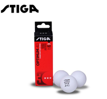 STIGA Original 3-Star OPTIMUM Plastic 40+ Table Tennis Balls Poly Seamed Ping Pong Balls ITTF Approved