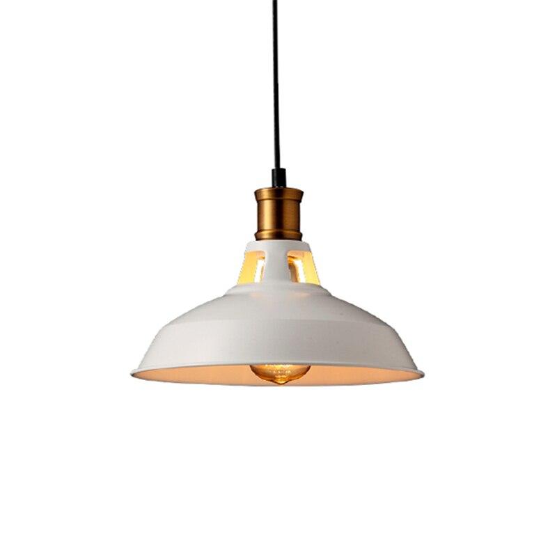 White/Black 28cm E27 AC90V-260V Retro Loft Vintage American Lamp Pendant Light Creative Home Designer for Living Room PLL-162<br>