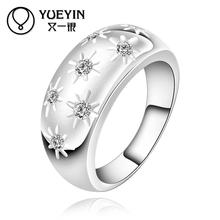 New fashion women ring accessories jewelry top quality crystal finger rings for women girl nice gift with