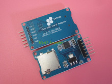 10pcs/lot Micro SD card mini TF card reader module SPI interfaces with level converter chip