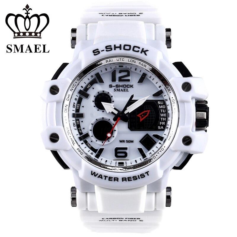 2017 New Digital Watch Men Analog Watch Silicone Analog Digital LED Date Alarm Mens Sports Outdoor Quartz Wrist Military Watch<br><br>Aliexpress