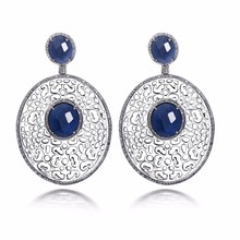 Buy Limited edition Large size earrings Unique wedding accessories Filigree design Big Oval shape Extraordinary Ladies Drop earrings for $31.38 in AliExpress store