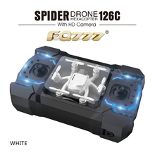 Mini FQ777 126C Spider Drone 2.4G 3D 6 Axis Gyro RC Helicopter Roll One Key Return Dual Mode 4CH with HD Camera(China)