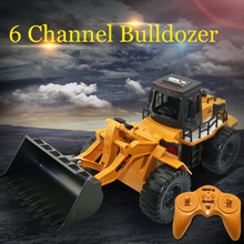 RC car Remote Control truck 1:13 Alloy Bulldozer 6 channel 4WD Engineer Vehicle USB Charging for Child Without original box