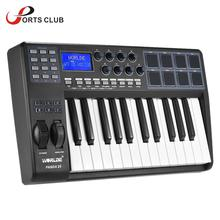 WORLDE PANDA25 25-Key Ultra-portable USB MIDI Keyboard 8 Drum Pads Controller with USB Cable(China)
