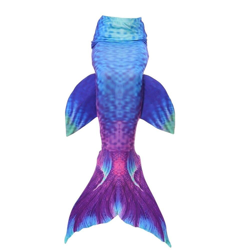 Kids Girls Mermaid Tail Csoplay Costume Children Bikini Swimsuit Can Wear Mermaid Tail Swimming Monofin tail