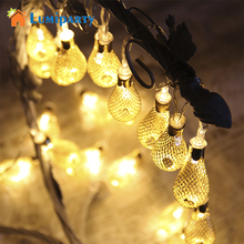 LumiParty 10/20/40 Silver Mesh Teardrop Battery Operated LED Fairy Lights String 1.5/2.5/5m for Wedding Party Fairy Lights Chris(China)