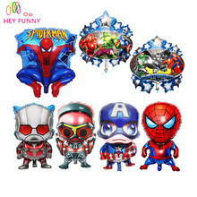 Hot Selling The Avengers Foil Balloons For Party Supplies Spider-Man & Captain America Helium Balloons for Kids Toys Gifts(China)