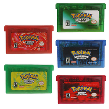 For Nintendo GBA Video Game Cartridge Console Card Pokemon Series Classic Retro Games Emerald/Sapphire/Ruby/Leaf Green/Fire Red