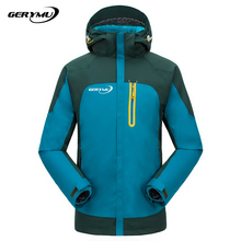 2016 Men Outdoor Waterproof Jacket Soft Shell Fleece Warm Breathable Mountaineering Ski Hunting Hiking Camping Climbing