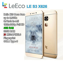 "Letv LeEco S3 X626/X622 5.5"" full HD 21MP 4GB RAM 32GB Helio X20 Deca Core Smartphone MX6 Note 4 Pro Apollo Prime Lite"