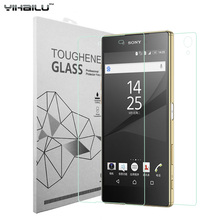 "Yihailu 2pcs/lot Front and Back For Sony Xperia Z5 5.2"" Tempered Glass Screen Protector 2.5D 9H e6603 e6633 e6653 Retail Box"