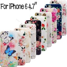 6/6S Phone Shell For Apple iPhone 6 6S Cases Back Case Cover Printing Flower Floral Cases 2016 Best Choose High Quality