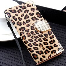 For iPhone 7 6 6S Plus 5 5S SE Case Luxury Wallet Leopard Flip Leather Case For iPhone 6 6S 7 5 5S SE 6 Plus Diamond Cover Coque(China)