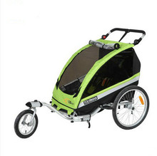 Bicycle trailer push cart infant children trailer multi-functional universal wheel children's cart foldable two-seater