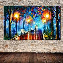 100% Handmade High-quality Modern Wall Art Streetscape Palette Knife Oil Painting On Canvas For Living Room Home Decoration(China)