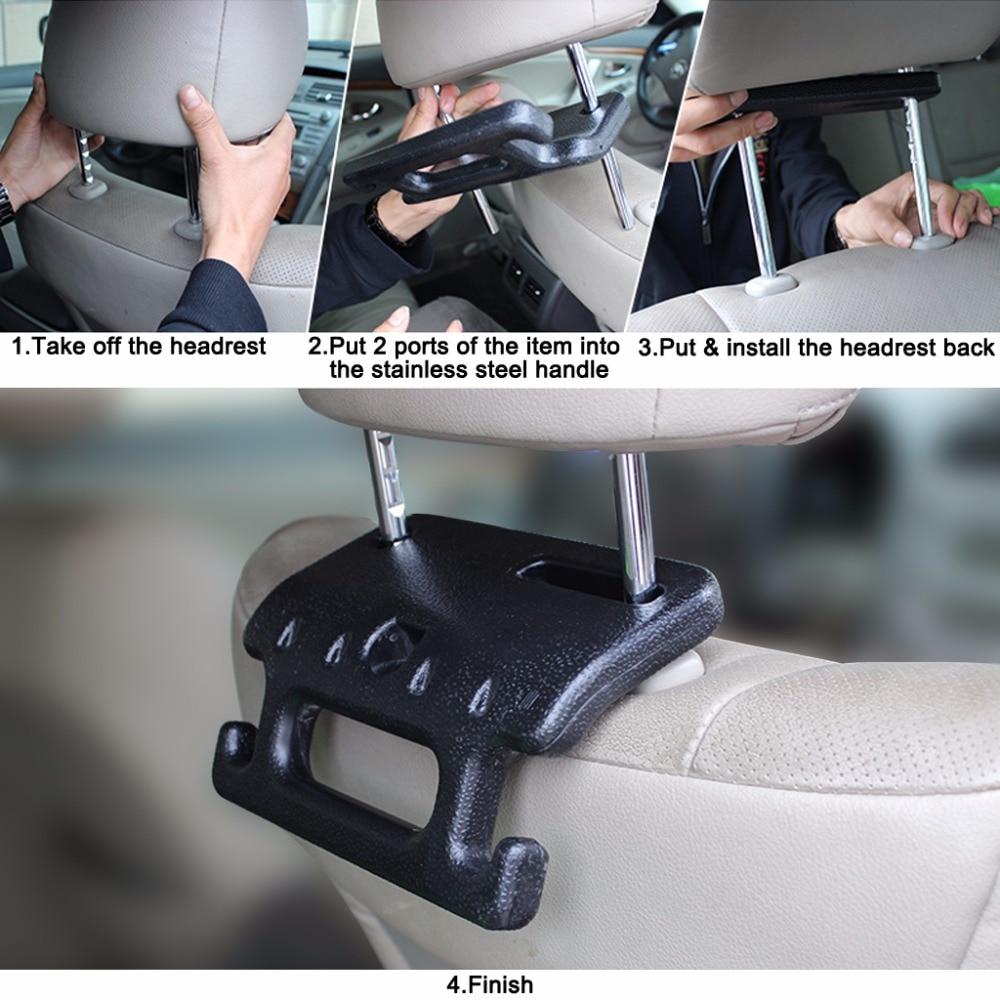 Universal Vehicle Car Safety Seat Armrest Headrest Back Hook Auto Multi-Purpose Interior Accessories (1)