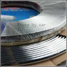 1 Roll 6mm X 15Meters Car Chromium Styling Strip Exterior Trim Molding Side Door Silver car interior decoration moulding Covers(China)