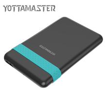 "YOTTAMASTER HDD Enclosure 2.5 ""5 Gbps USB 3.0 to SATA 3.0 Hard Drive Disk Case 2 TB Support UASP with Silicone Band USB Cable"