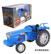 1:18 scale blue farm tractor used wheel alloy car model kids toys Free shipping
