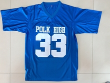 American Football Jersey Married with Children Al Bundy 33 Polk High Football Jersey Blue All Stitched(China)