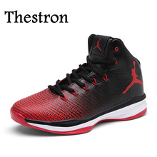 Thestron Couples Brand Sneaker Shoes Men And Women Cool Basketball High Top Shoes Men Quality Mens Sneakers For Basketball Sport(China)
