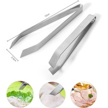 stainless steel fish tweezers remover Pincer Clip Plucking Clamp Bone Tweezer Tongs Pick-Up Tool Kitchen Gadgets