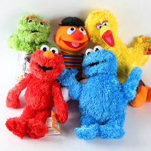 New 1pc 30cm Cute Sesame Street Plush Toys Elmo Big Vird Cokkie Monster Stuffed Dolls Toy Children Birthday Gifts Party Presents