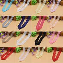 Hot Sell 10Yards Beautiful Top high quality elastic lace ribbon french african lace fabric costume cotton lace trim Diy Clothing(China)