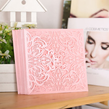 10Pcs Romantic Wedding Party Invitation Card with Delicate Carved Pattern Party/ Event Invitation card Wedding Party Supplies