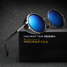 HDCRAFTER Brand Unisex Retro Alloy Sunglasses Oval Glasses Eyewear Accessories For Men/Women(China)