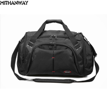 Men Large Capacity Oxford Bussiness Sport Bag Crossbody Shoulder Duffel Bag Multifunction Sports Travel Gym Fitness Bag Black(China)