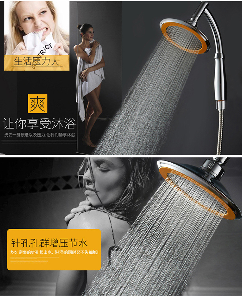 2017 Rain Showers Inches ABS Plastic&stainless Steel Bathroom Shower Heads Handheld Rainfall Shower Head rain Hand Shower K-H03