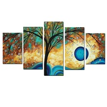 Christmas Gift Lucky Tree Abstract Large Wall Art Canvas Painting Home Goods Wall Art Posters Free Shipping House Painting(China)