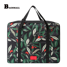 BAGSMALL Waterproof Garment Packing Organizers Women Travel Bags Nylon Weekend Portable Luggage Travel Duffel Put on Suitcase