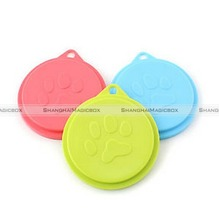 ShanghaiMagicBox 3x Pet Food Can Cover Lid Dog Cat Pet Tin Plastic Reusable Storage Cap Top 88mm 40515370(China)