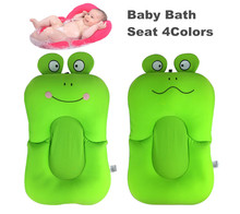 Newborn Baby Bathtub Foldable Blooming Batch Mat Soft Seat Infant Sink Shower Baby Flower Play Bath Folding Baby Tub Cushion(China)
