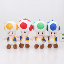 4pcs/set 18cm Super Mario Mushrooms Toad Plush Toys Stuffed Animals Kids Gift Dolls 4color