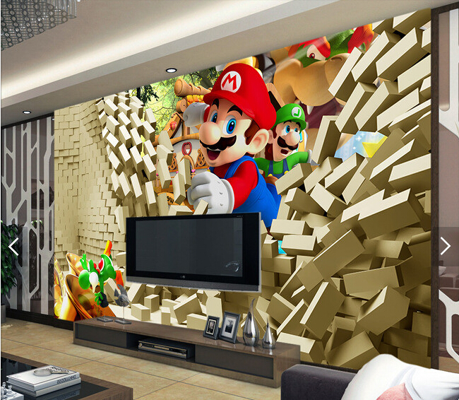 Custom wallpaper for children.Mario Poqiang,3D modern murals for childrens room sofa background wall waterproof vinyl wallpaper<br>