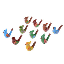 Musical Instrument Coloured Drawing Water Bird Whistle Bathtime Musical Toy for Kid Early Learning Educational Children Gift Toy(China)