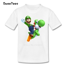 Super Mario Bros Yoshi T Shirt Kid Cotton Toddler O Neck Baby Tshirt Children Infant Clothing 2017 T-shirt For Boy Girl