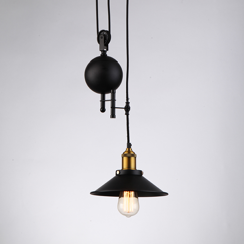 JEMMY HO Vintage Industrial Pulley Pendant Light Warm Loft Countryside Single Head Adjustable Wire Pulley Pendant Lamp Fixtures<br><br>Aliexpress