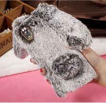 For Lenovo A7000 3D Rabbit Soft Case Warm Cute Bunny Fluffy Fur TPU Cell Phone Back Cover Shell for Lenovo K3 Note K50-t5 A7000