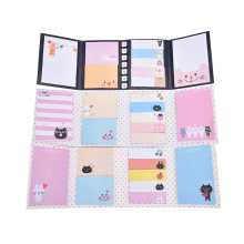 Animal Cat Panda Memo Pad School Supplies Planner Stickers Paper Bookmarks Korean Stationery Cute Kawaii Sticky Notes Post It