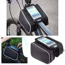 Bicycle Bike Top Frame Front Pannier Saddle Tube Bag Double Pouch Holder
