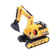 TOYZHIJIA Hot 1pcs Excavator Construction Vehicle Truck Diecast Model Car Toys For Brinquedos Kids Toys Gift 22*7.5*17cm(China)