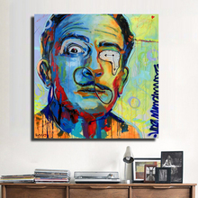 HDARTISAN Modern Oil Painting Graffiti Salvador Dali Canvas Art Wall Pictures For Living Room Home Decor Printed Funny looks