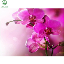 mosaic embroidery orchid flowers full resin diamond painting textile crystal needlework rhinestones inlaid decoration wallpapers