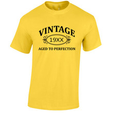 Summer 2016 Vintage Aged to Perfection Tshirt Birthday Present Gift T-Shirt *CHOOSE YOUR YEAR* T shirts Women&Men Tees T-F11489