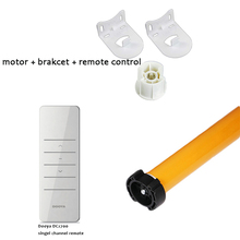 work with Amazon Alexa 433MHZ 100V-240V weight support 2.1kg roller blind Tubular Motor fit for 38mm tube with Remote Control(China)